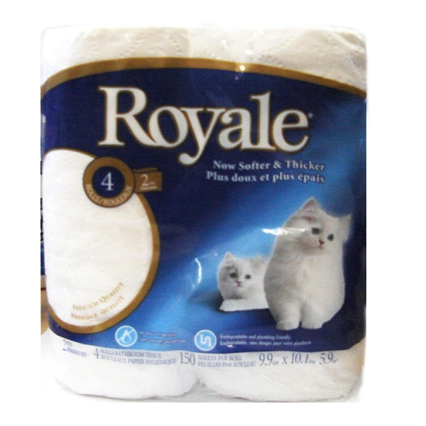 Royale Bathroom Tissue 4 Rolls