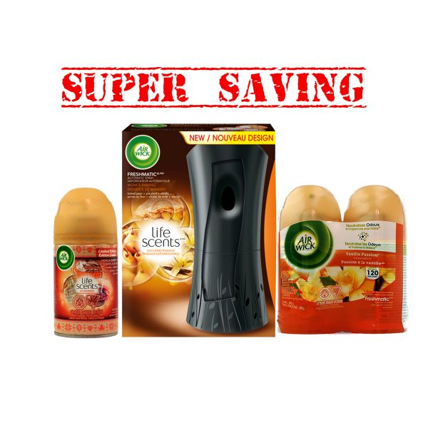 Fresh.Autom.Spray&2pkVanilla Spray&VanillaBakerySpray-SuperSaving1