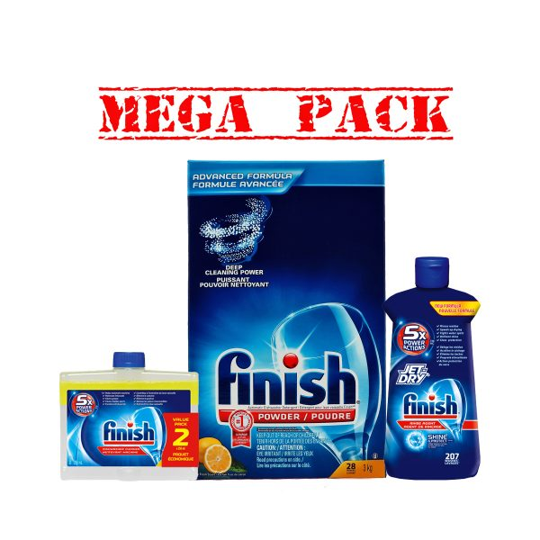 FinishPowder3kg&JetDry207&2pkDualAction-Mega Pack
