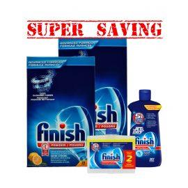 FinishPowder3kgX2 & JetDry& 2pkDualAction-Super Saving